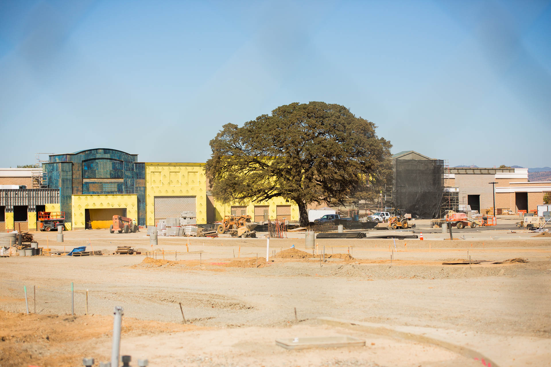 The Red Bluff Walmart Supercenter is well underway